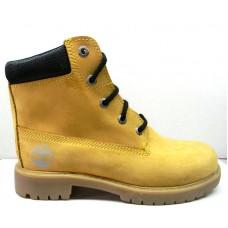 Ботинки демисезонные подростковые нубук желтые 0020ТМ-2