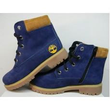 Ботинки демисезонные подростковые нубук синие 0020ТМ-1