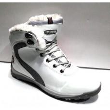 Ботинки женские зимние на шнурке белые 0397КФМ