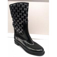 Женские стильные резиновые сапоги с орнаментом 0142УКМ