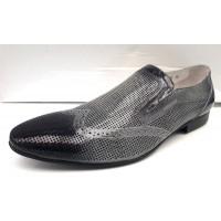 Туфли летние классические перфорированная кожа  0015МІМ