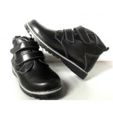Ботинки подростковые кожа натуральная осень-весна/зима черные 0479УКМ