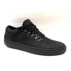 Мужские туфли-слипоны нубук натуральный качественные чёрные 0499УКМ