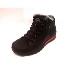 Ботинки мужские зимние натуральная кожа черные 0512УКМ