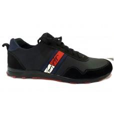 Мужские кроссовки замшевые черные 0010ТХМ