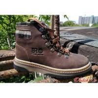 Подростковые ботинки осень-весна кожа и нубук коричневые 0023БМ