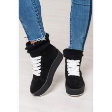 Стильные ботиночки-кеды женские замшевые демисезонные/зимние цвета разные 0199КФМ