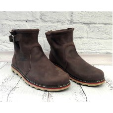 Ботинки мужские зимние кожа черные/коричневые 0012ЛЕМ