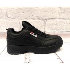 Модные кроссовки демисезонные черные 0523КФМ