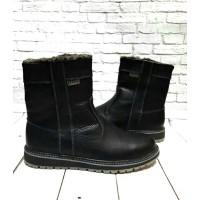 Ботинки мужские  сапоги зимние кожаные черные коричневые 0528УКМ