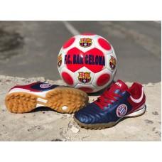Кроссовки футбольные подростковые синие (35-41 размеры) 0551КФМ