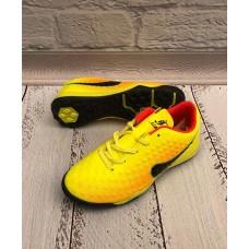 Кроссовки для футбола сороконожки желтые 0549КФМ