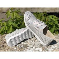 Мокасины со шнурками женские кожа 0624УКМ