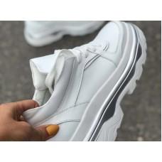 Белые кожаные кроссовки женские натуральные 0052СЗ