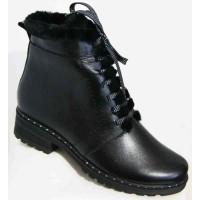 Замшевые ботинки зимние женские большие размеры 0064МД