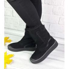 Обувь угги женские кожа/замша 0117КОМ