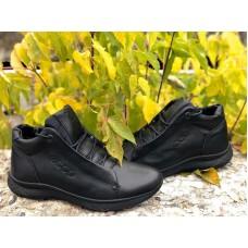 Зимние ботинки мужские кожаные черные 0027ЕМ