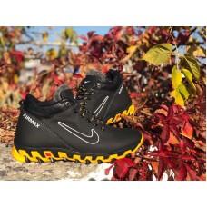 Ботинки подростковые зима кожа черные 0159НИМ
