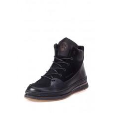 Зимние ботинки мужские кожаные 0048БМ