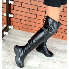 Ботфорты женские Balenci@ga зима кожаные 2247ТОПС