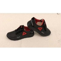 Кожаные кроссовки подростковые черные 0023РИБ