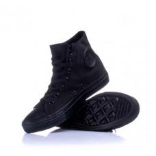 Высокие кеды Converse All Star Black Monochrome хлопок 0586КФМ