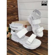 Босоножки без каблука женские толстая подошва разные цвета 0121КОМ