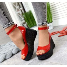 Женские туфли летние на платформе с ремешком разные цвета 2853ТОПС