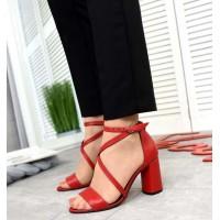 Красивые босоножки на каблуке на тонких ремешках 3144ТОПС