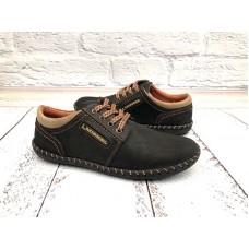 Мокасины-туфли подростковые на шнуровке кожаные 0298УКМ