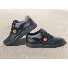 Подростковые туфли кожаные черные 0181УКМ