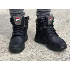 Ботинки подростковые зимние кожаные 0009КЭТ