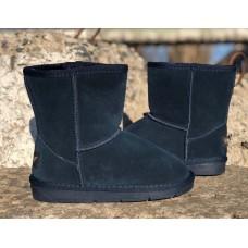 Угги модные детские замшевые темно-синие (31-36 размеры) 0094КФМ