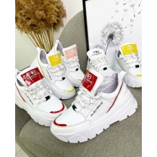 Белые кожаные кроссовки женские TOPs4194