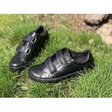 Подростковые туфли кожаные натуральные на липучках 0426УКМ