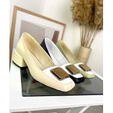 Женские закрытые туфли с пряжкой на низком каблуке TOPs4416