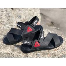 Босоножки мужские кожаные на липучках черные 45-50 р-ры 0259УКМ