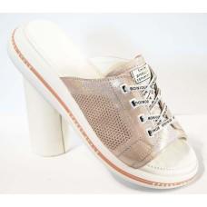 Шлепанцы женские кожаные на шнуровке р-ры 33-42 0152МД