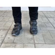 Подростковые туфли на липучках кожаные р-ры 35-40 0751УКМ