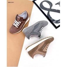 Женские замшевые кроссовки кожаные 5209ТОПС