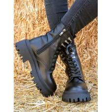 Ботинки женские BERTA на тракторной подошве 32-41 р-ры BM0108